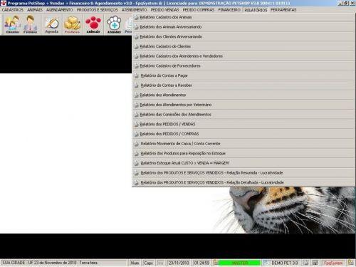 Programa para PetShop e Veterinária com Vendas, Serviços e Financeiro v3.0 - FpqSystem 97659