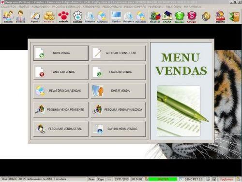 Programa para PetShop e Veterinária com Vendas, Serviços e Financeiro v3.0 - FpqSystem 97663