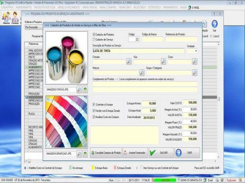 Programa Gráfica Rápida com Cadastro de Clientes, Serviços e Financeiro v5.5 PLUS - FpqSystem 97804