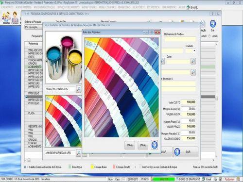 Programa Gráfica Rápida com Cadastro de Clientes, Serviços e Financeiro v5.5 PLUS - FpqSystem 97805