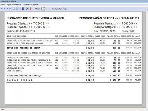 Programa Gráfica Rápida com Cadastro de Clientes, Serviços e Financeiro v5.5 PLUS - FpqSystem 97813