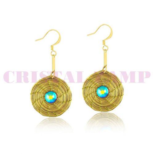 Brinco em capim dourado decorado com cristais Swarovski® 129499