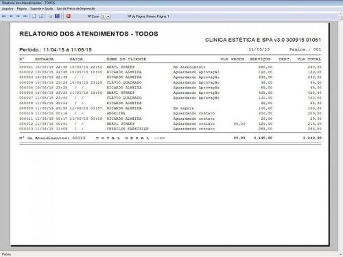 Programa Clinica de Estética e SPA, Agendamento, Vendas e Financeiro v3.0 146290