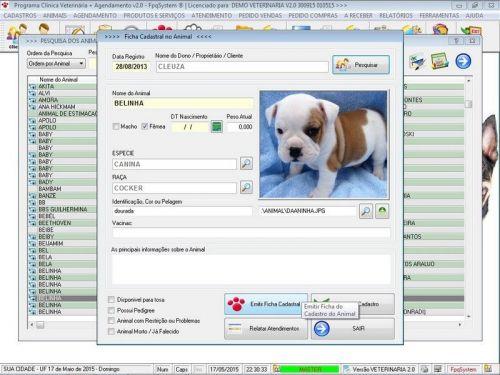 Programa para Clinica Veterinária com e Agendamento e Vendas v2.0 146471