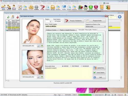 Programa Salão de Beleza, Agendamento, Vendas e Financeiro v4.0 Plus 151110