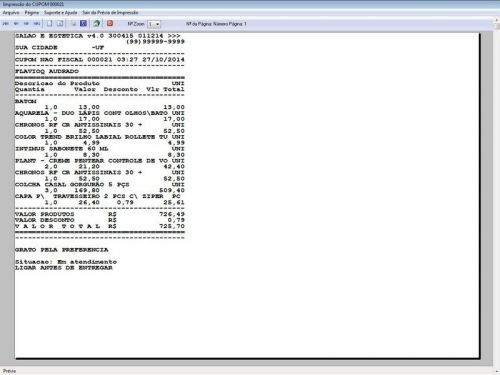 Programa Salão de Beleza, Agendamento, Vendas e Financeiro v4.0 Plus 151115