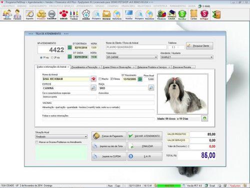 Programa para PetShop e Agropecuária com Agendamento, Vendas e Financeiro v4.0 Plus 151127
