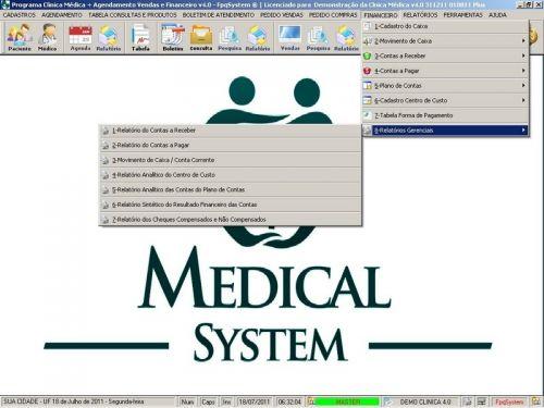Programa Consultório e Clinica Médica com Agendamento, Vendas e Financeiro v4.0 151742