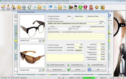 Programa para Ótica e Relojoalheria Vendas + Financeiro v4.4 - FpqSystem 151964