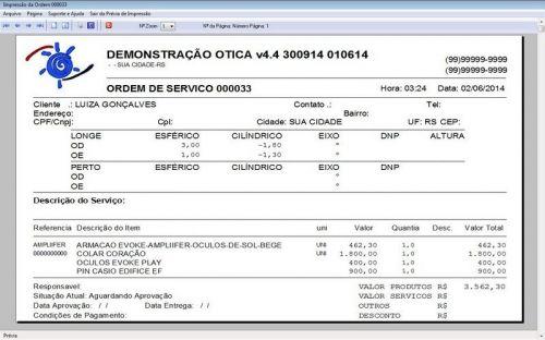 Programa para Ótica e Relojoalheria Vendas + Financeiro v4.4 - FpqSystem 151971