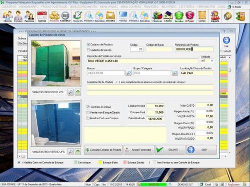 Programa OS Vidraçaria e Esquadria com Vendas, Financeiro e Agendamento v5.7 Plus 152213