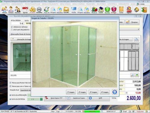 Programa OS Vidraçaria e Esquadria com Vendas, Financeiro e Agendamento v5.7 Plus 152232
