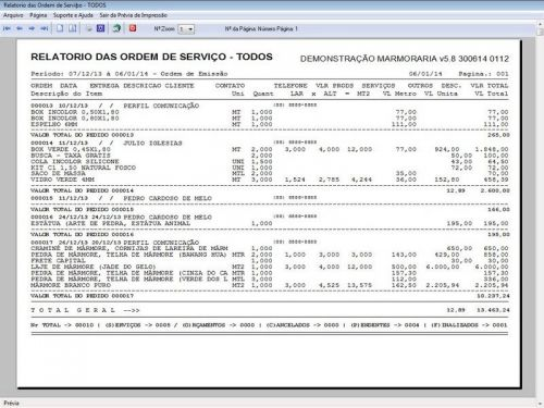 Programa Ordem de Serviço Marmoraria com Vendas e Financeiro e Agendamento v5.8 152284
