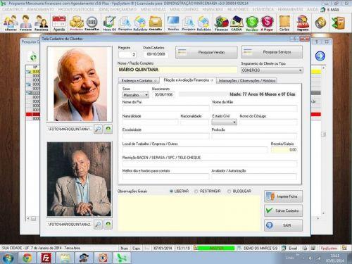 Programa Ordem de Serviço Marcenaria com Vendas e Financeiro e Agendamento v5.9 - FpqSystem 152293