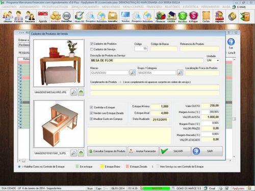 Programa Ordem de Serviço Marcenaria com Vendas e Financeiro e Agendamento v5.9 - FpqSystem 152294