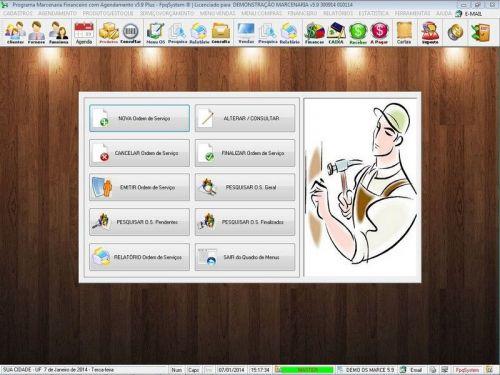Programa Ordem de Serviço Marcenaria com Vendas e Financeiro e Agendamento v5.9 - FpqSystem 152304