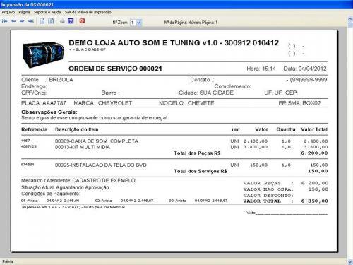 Programa para AutoSom e Tunning com Serviços v1.0 - FpqSystem 152316