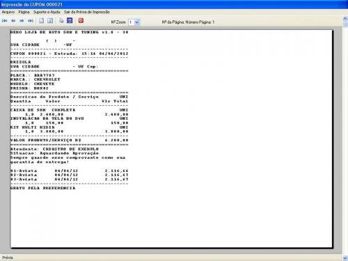 Programa para AutoSom e Tunning com Serviços v1.0 - FpqSystem 152317
