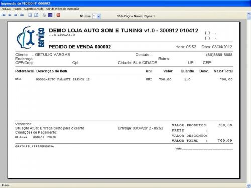 Programa para AutoSom e Tunning com Serviços v1.0 - FpqSystem 152318