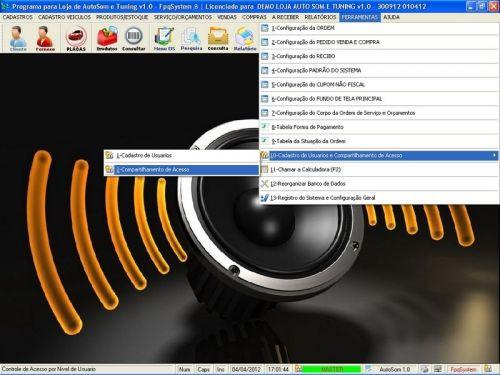 Programa para AutoSom e Tunning com Serviços v1.0 - FpqSystem 152321