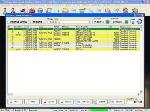 Programa para AutoSom e Tunning com Serviços v1.0 - FpqSystem 152324