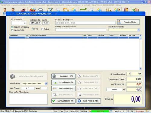 Programa para AutoSom e Tunning com Serviços v1.0 - FpqSystem 152328
