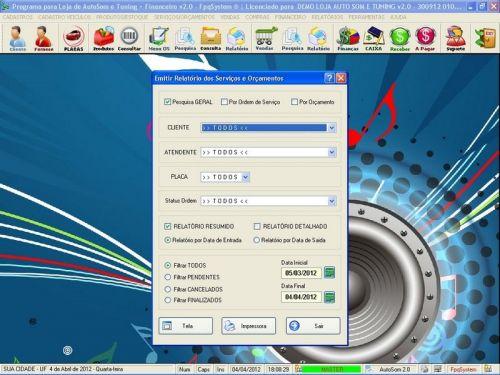 Programa para AutoSom e Tunning + Vendas e Financeiro v2.0 - Fpqsystem 152344