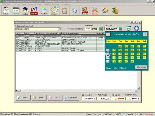 Programa Livro Caixa + Plano de Contas v2.0 - FpqSystem 152474