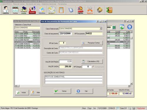 Programa Livro Caixa + Plano de Contas v2.0 - FpqSystem 152478