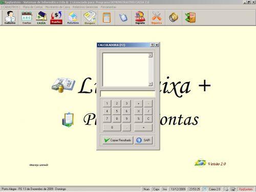 Programa Livro Caixa + Plano de Contas v2.0 - FpqSystem 152480