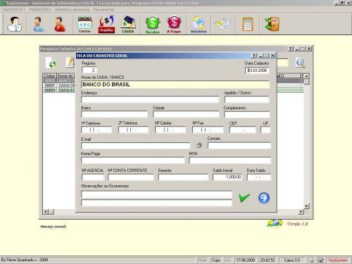 Programa Livro Caixa Financeiro v3.0 - Fpqsystem 152484