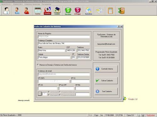 Programa Livro Caixa Financeiro v3.0 - Fpqsystem 152490