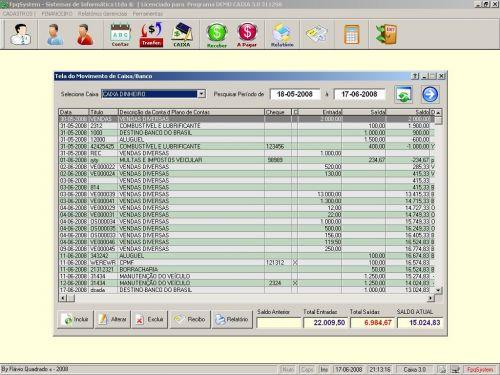 Programa Livro Caixa Financeiro v3.0 - Fpqsystem 152499