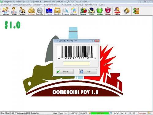 Programa PDV Frente de Caixa, Estoque e Financeiro v1.0 - FpqSystem 152523