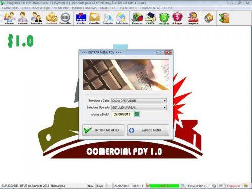 Programa PDV Frente de Caixa, Estoque e Financeiro v1.0 - FpqSystem 152531