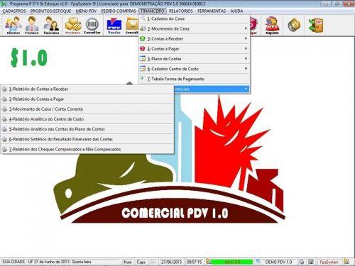 Programa PDV Frente de Caixa, Estoque e Financeiro v1.0 - FpqSystem 152535