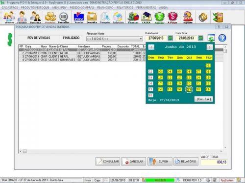 Programa PDV Frente de Caixa, Estoque e Financeiro v1.0 - FpqSystem 152537