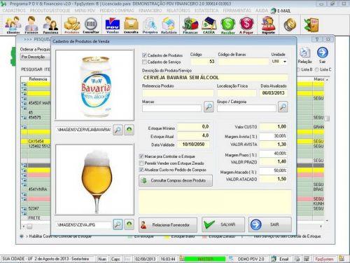 rograma PDV Frente de Caixa, Estoque e Financeiro v2.0 - Plus 152544