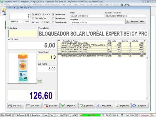 rograma PDV Frente de Caixa, Estoque e Financeiro v2.0 - Plus 152545