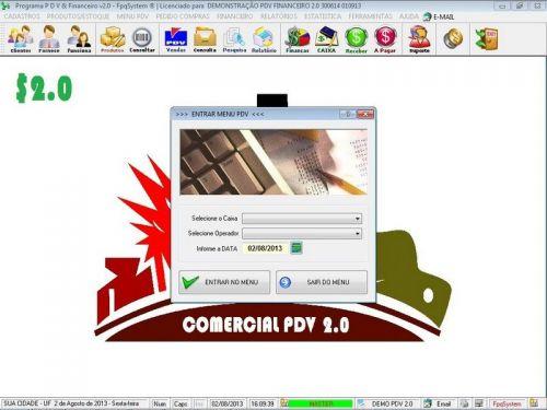 rograma PDV Frente de Caixa, Estoque e Financeiro v2.0 - Plus 152546