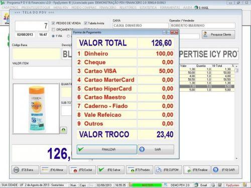 rograma PDV Frente de Caixa, Estoque e Financeiro v2.0 - Plus 152548