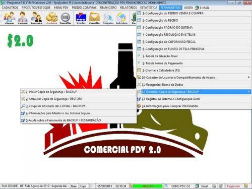 rograma PDV Frente de Caixa, Estoque e Financeiro v2.0 - Plus 152550