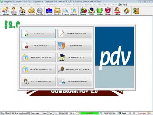 rograma PDV Frente de Caixa, Estoque e Financeiro v2.0 - Plus 152551