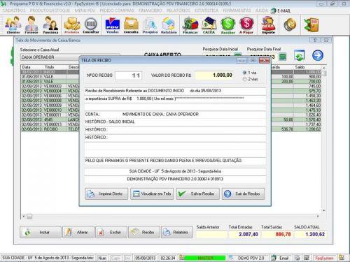 rograma PDV Frente de Caixa, Estoque e Financeiro v2.0 - Plus 152556