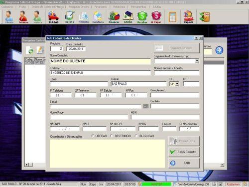 Programa Coleta e Entrega + Financeiro v2.0 FpqSystem 152573