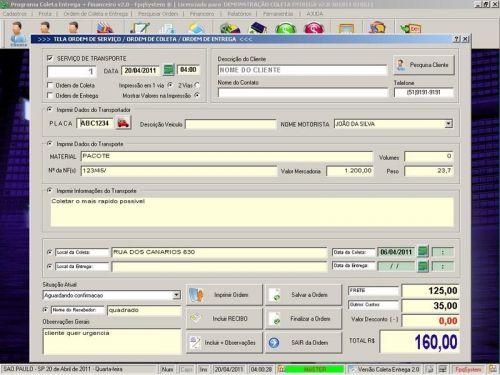 Programa Coleta e Entrega + Financeiro v2.0 FpqSystem 152574