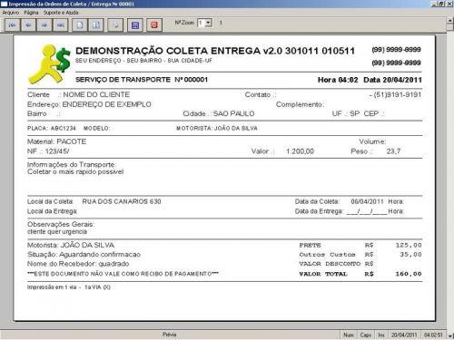 Programa Coleta e Entrega + Financeiro v2.0 FpqSystem 152577