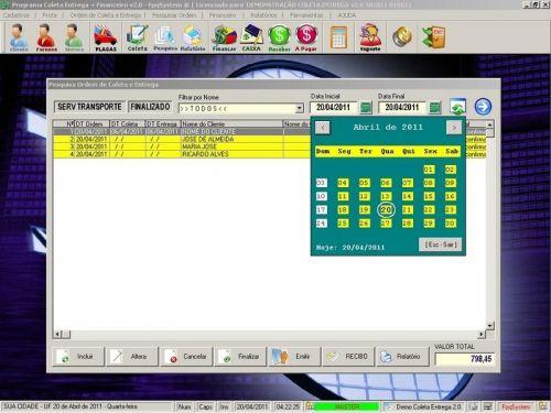 Programa Coleta e Entrega + Financeiro v2.0 FpqSystem 152585