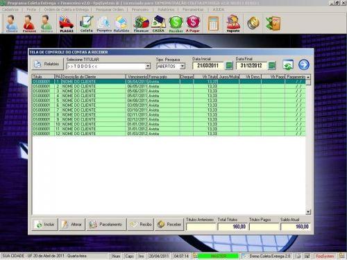 Programa Coleta e Entrega + Financeiro v2.0 FpqSystem 152586