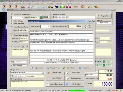 Programa Coleta e Entrega + Financeiro v2.0 FpqSystem 152588